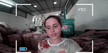 Sophia Helena conheça a realidade dos catadores de material reciclável