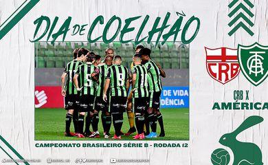 CRB e América-MG abrem a 12ª rodada da Série B do Campeonato Brasileiro nesta segunda-feira (28). O jogo será realizado no estádio Rei Pelé, em Maceió, às 20h