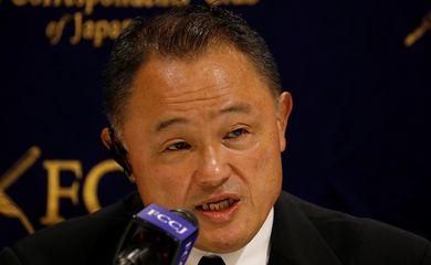 Presidente do Comitê Olímpico do Japão, Yasuhiro Yamashita, dá entrevista coletiva - Tóquio 2020
