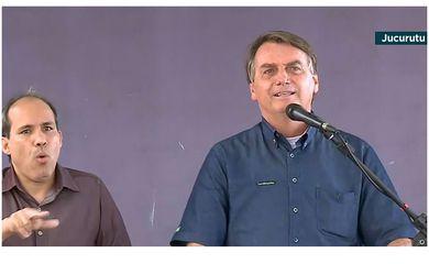 O presidente Jair Bolsonaro fez hoje (24) uma visita à Barragem de Oiticica