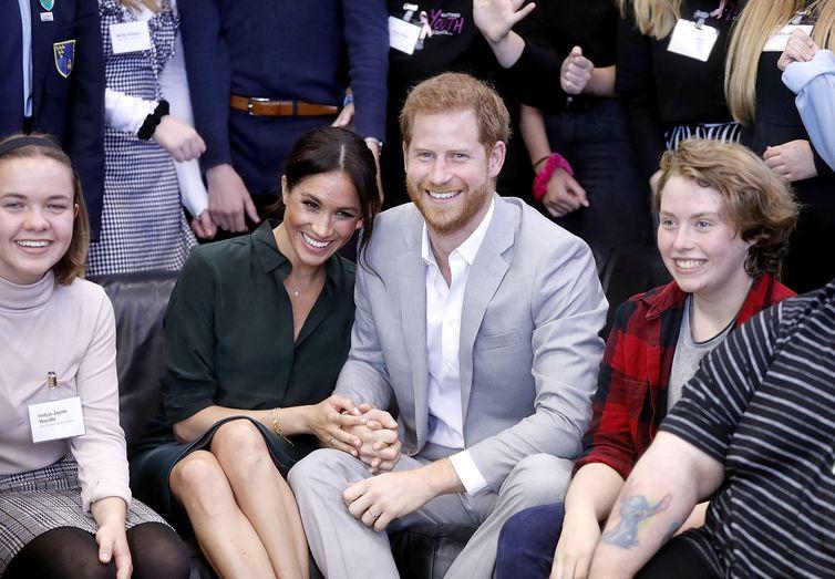 Príncipe Harry e Meghan Markle anunciam gravidez  Chris Jackson/pool via Reuters