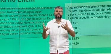 Professor Diego Viug, do Colégio Ao Cubo, participa do Cai no Vestibular