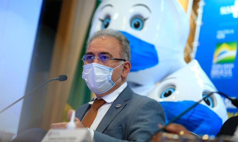 Queiroga no Lançamento da campanha de incentivo à vacinação da 2ª dose da vacina Covid-19.