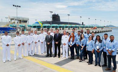 O Presidente da República, Jair Bolsonaro, durante a Cerimônia do dia do Marinheiro - PROSUB 2020