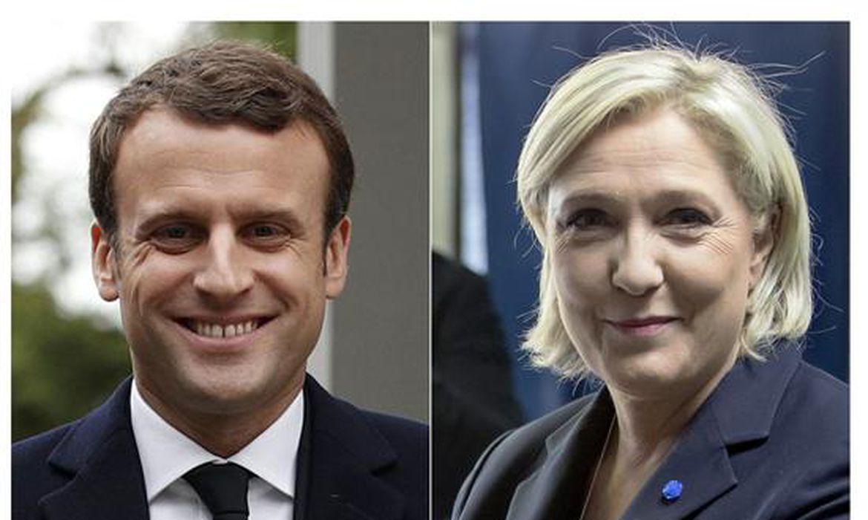 Emmanuel Macron e Marine Le Pen devem disputar o 2° turno das eleições presidenciais na França