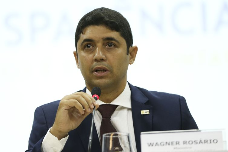 O ministro da Transparência e Controladoria-Geral da União (CGU), Wagner Rosário, durante o lançamento do novo Portal da Transparência do governo federal.