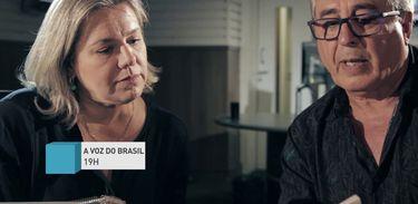 Airton Medeiros e Gláucia Gomes na Voz do Brasil