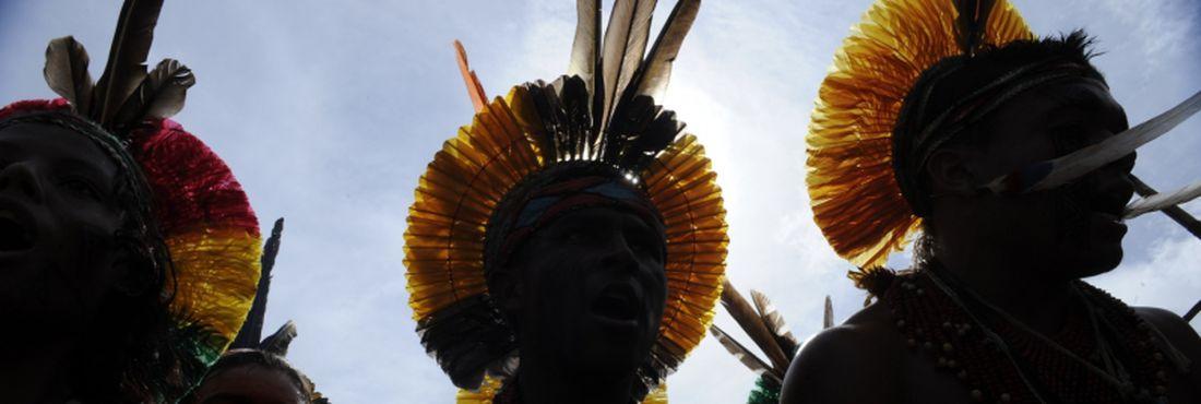 Índios em protesto da Rio+20