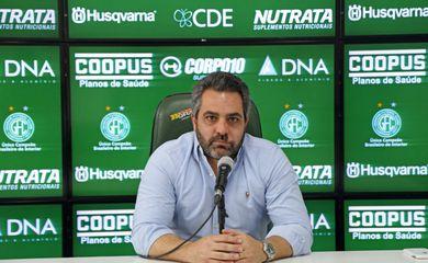 Ricardo Moisés, presidente do Guarani, elogia time depois de sofrer goleada do Cuiabá - covid-19 - série B