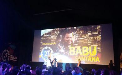 O ator Babu Santana é homenageado na Mostra de Cinema de Tiradentes - Foto Leo Rodrigues-Agência Brasil