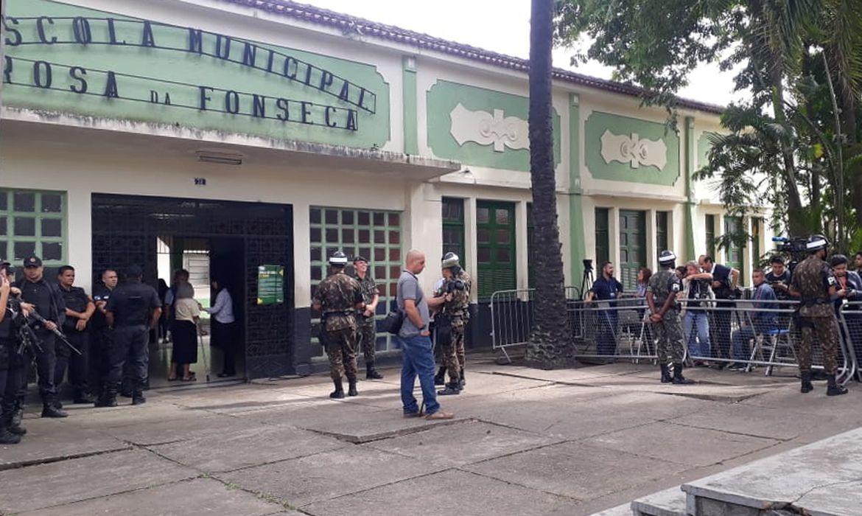 Segurança é reforçada onde Bolsonaro vota