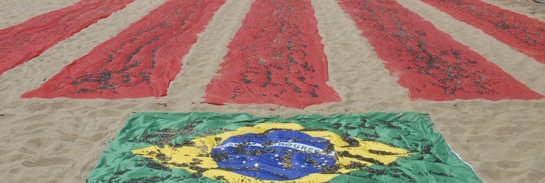 Protesto da ONG Rio de Paz contra alto índice de homicídios no Brasil