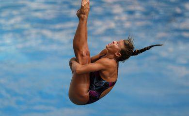 Luana Lira. Trofeu Brasil de Saltos Ornamentais, realizado no Parque Aquatico Julio de Lamare. 05 de Abril de 2018,
