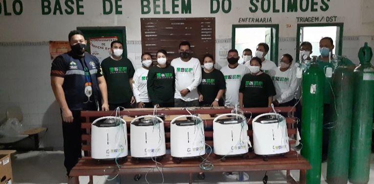 Polos bases de saúde indígena do Alto Solimões, recebem cilindros e concentradores de oxigênio