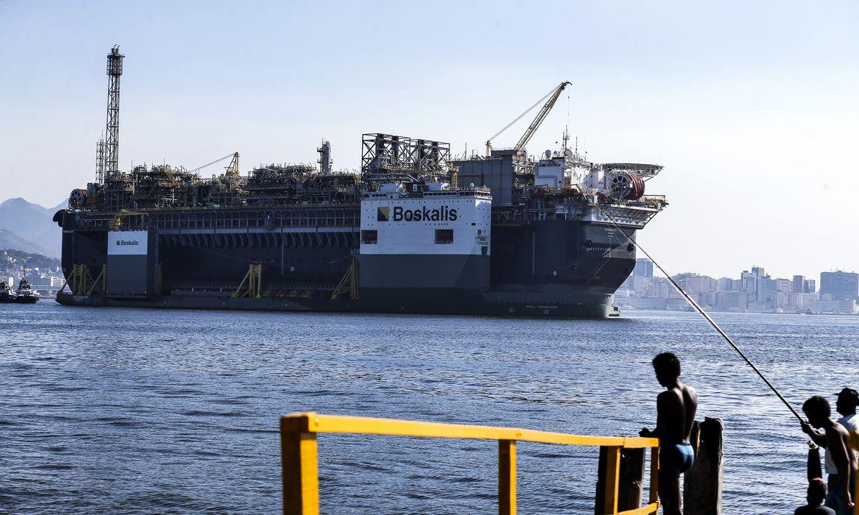 A Petrobras anunciou a chegada da plataforma de petróleo, P-67, ancorada na Baía de Guanabara, destinada ao Sistema de Produção do Campo de Lula, no pré-sal da Bacia de Santos.