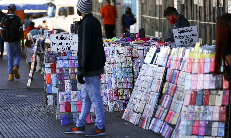 Comércio de rua em Brasília.