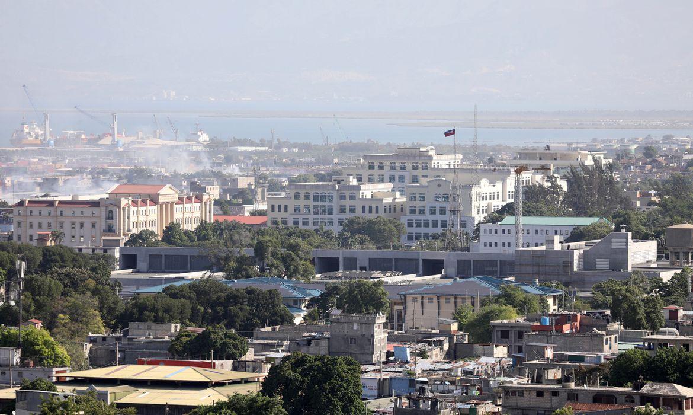 Proximidades do Palácio Presidencial, no Haiti