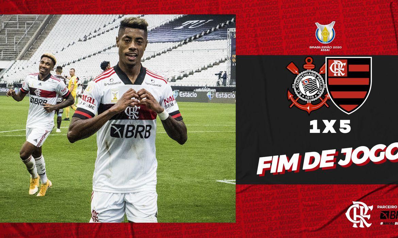 Flamengo massacra Corinthians no Itaquerão, com vitória de 5 a 1