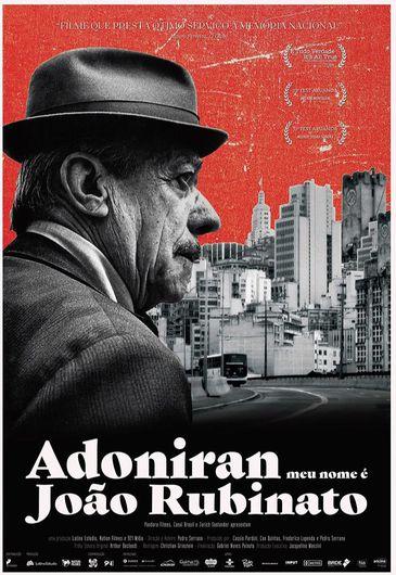 """Cartaz do documentário """"Adoniran - Meu nome é João Rubinato"""""""