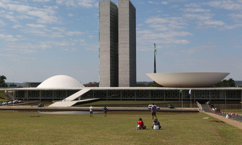 Palácio do Congresso Nacional na Esplanada dos Ministérios em Brasília
