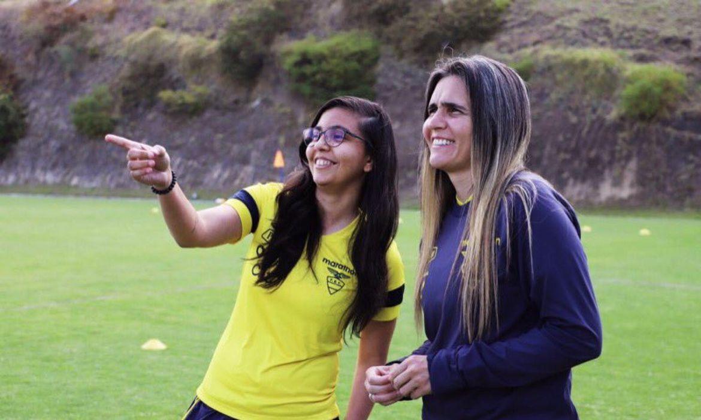 Carol LIma e Emily Lima - comissão técnica seleção feminina do Equador