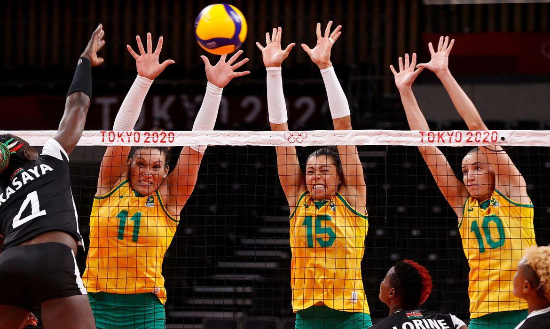 Brasil derrota Quênia no vôlei feminino em Tóquio