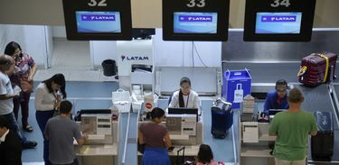 Check-in no aeroporto