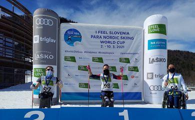 Aline Rocha é bronze na Copa do Mundo de Para Ski Cross Country.
