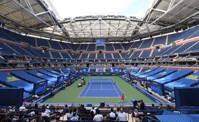 Vista do estádio Arthur Ashe, no complexo de Flushing Meadows, em Nova York, onde são disputadas as partidad do Aberto dos EUA de tênis - US Open