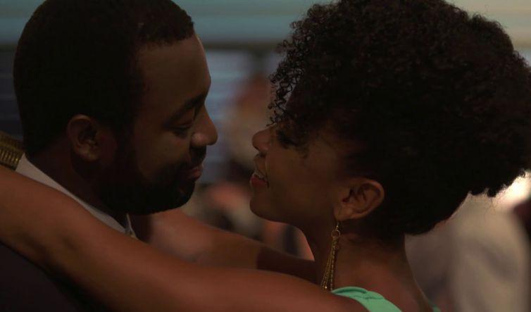 A felicidade do casal Joel e Djamila