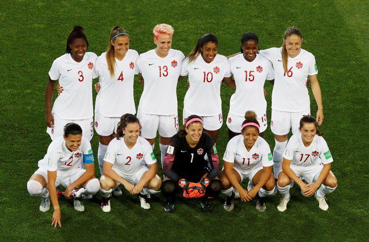 Seleção do Canadá na Copa do Mundo de Futebol Feminino - França 2019.