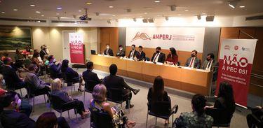 Ato de repúdio à PEC-05 na Associação do Ministério Público do Estado do Rio de Janeiro - Amperj