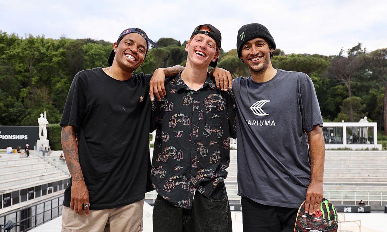 Kelvin Hoefler, Felipe Gustavo e Giovanni Vianna, skate, street