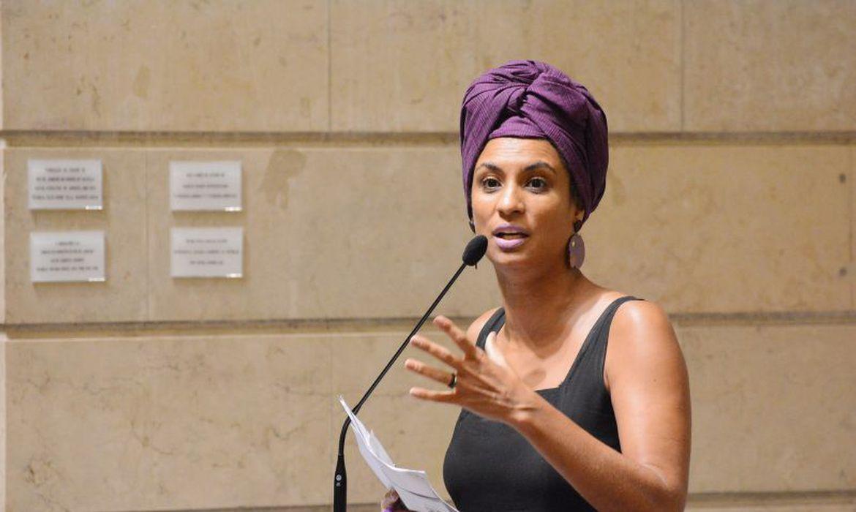 Vereadora Marielle Franco (PSOL) na Câmara de Vereadores do Rio de Janeiro