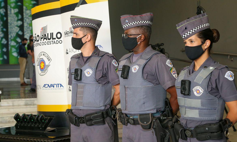 Coletiva de Imprensa para apresentar novos equipamentos da Polícia do Estado de São Paulo.