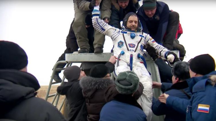 Diário de um Cosmonautaregistra o retorno do astronauta russo Mikhail Kornienko para a Terra