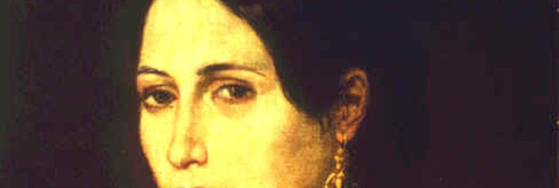 Anita Garibaldi em pintura feita por Gaetano Gallino, em 1845, Montevideo