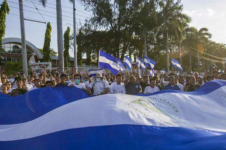 Protesto em Manágua contra reforma da Previdência