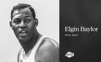 Morre Elgin Baylor, lendda dos LA Lakers,  aos 86 anos, em 22/03/2021