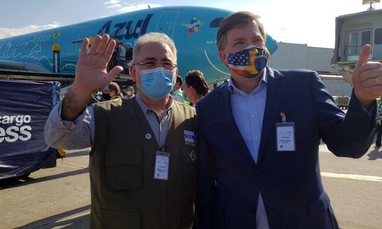 Marcelo Queiroga,Todd Chapman,chegada de vacinas