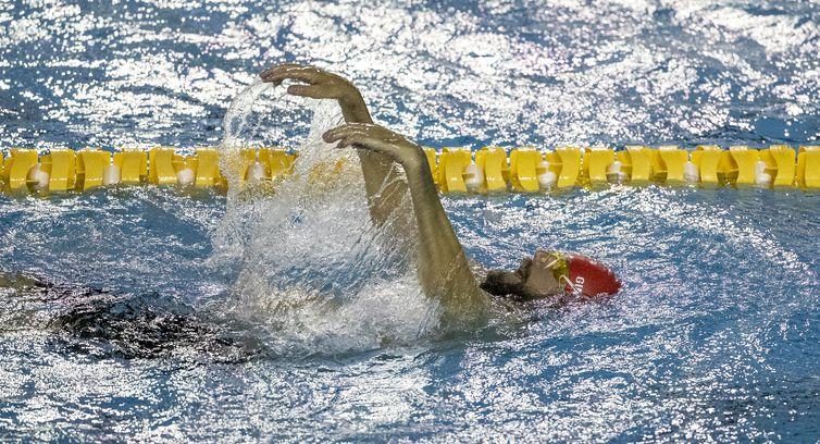 03.06.21 - Gabriel Feiten durante fase de treinamento seletiva da Natação para Tóquio no CT Paralímpico Brasileiro (CTP) - classe baixa - seletiva