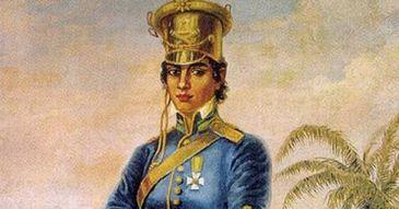 Retrato de Maria Quitéria, por Domenico Failutti, heroína da Guerra de Independência na Bahia