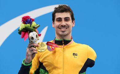 Talisson Glock é ouro nos 400 metros livre S6 na natação na Paralimpíada