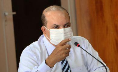 O governador do Distrito Federal, Ibaneis Rocha,