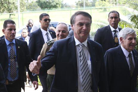 Bolsonaro visita o Gabinete de Segurança Institucional (GSI)