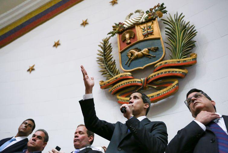 Juan Guaidó discursa na Assembleia Nacional da Venezuela