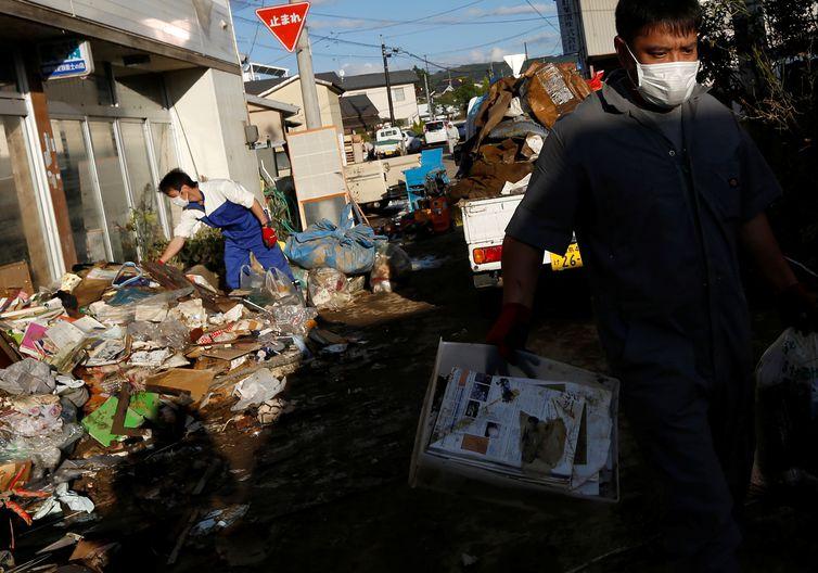 Tufão Hagibis. REUTERS/Soe Zeya Tun