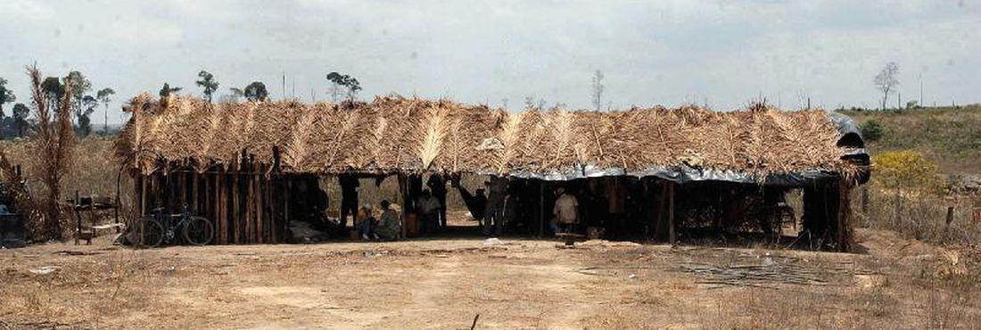 Suposto acampamento de trabalhadores escravos no interior do Maranhão, alvo de investigação da PF em 2003