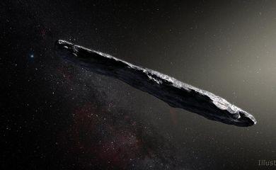 O asteroide ganhou o nome de Oumuamua, que quer dizer mensageiro, em , em havaiano