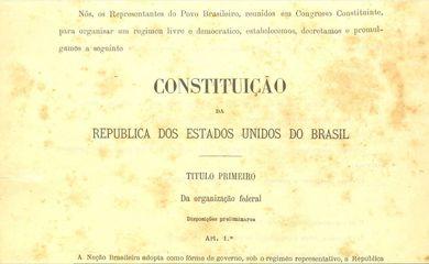Constituição da República dos Estados Unidos do Brasil de 1891 p. 01